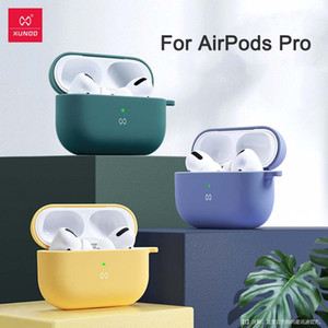 Apple AirPod Pro Ecouteur cas XUNDD silicone liquide anti-choc Armure Cover pour AirPod 1/2 casque cas Capa