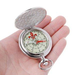Pocket Watch Flip Compass Portable Hiking Navigation Compass Luminous In The Dark Navigation Car Compass Keychain