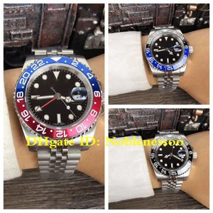 New Basel World 7 Color Mens GMT 126710BLRO 116710BLNR 116710LN 126710 BLRO Pepsi Red Blue Bezel Asia 2813 Movement Automatic Watch Watches