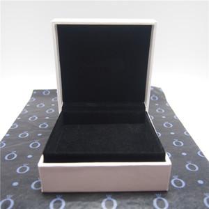 Big White Armband Paper Box Flachschaum mit Cut Für Pandora Ring-Ohrringe Charme-Korn Art und Weise Schmuck Verpackung wählen Einwickelpapier oder nicht