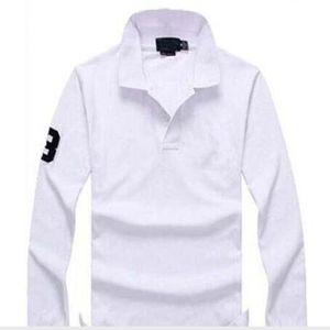2018 Nova venda quente Pólo Camisa Dos Homens Big pequeno Cavalo Sólida Longo-Luva de Verão Casual Polo Mens Slim Polos Casual camisa