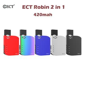 ECT originale Robin Pod Kit batterie 420mAh pods système Vape Pen Kits pour 510 fil d'huile épais avec 0,5 ml cartouche vide
