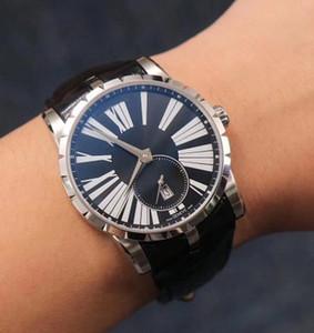 Tabie821219 ofertas relógio espada 42 milímetros 9015 movimento automático, com entrega gratuita janela couro data correia,
