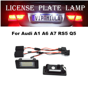 License Plate luz LED para Audi A1 A6 A5 A7 Q5 RS5 TTRS 6500K 12v LED Auto Luz Para Audi Q5 Acessórios Car LED