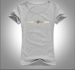 Primavera / verano 2019 Europa Italia de alta calidad camiseta impresa moda mujer camiseta casual mujer floja camiseta 9 colores pueden elegir gratis