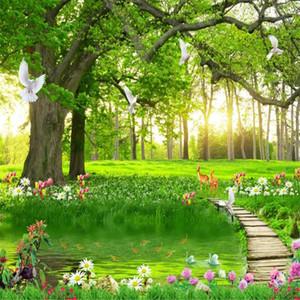 Belle et simple paysage vert grande forêt arbre de loisirs fonds d'écran magnifiques fonds d'écran de paysages