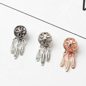 20PCS Dreamcatcher lindos encantos de la aleación granos de cobre para la joyería DIY regalo de las mujeres de la pulsera europea del brazalete del collar de la muchacha Accesorios