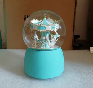 NEW VIP Gift ! Carousel Snow Globe 2019 Luxury Decorate Crystal Ball for Christmas & Novelty Birthday Gift With Gift Box