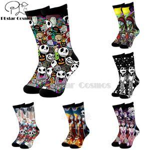 Cosmos nightmare before christmas jack skellington socks Cartoon 3d socks High Men Women high quality Halloween-5