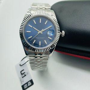 U1 часы автоматические часы Механические 41мм DAY-DATE из нержавеющей стали Sapphire водонепроницаемый Супер Luminous Оригинальная пряжка Мужские часы