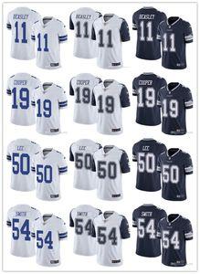 Mens Women DallasYouthCowboys19 Amari Cooper 11 Cole Beasley 54 Jaylon Smith 50 Sean Leenfl Navy Custom Football Jerseys