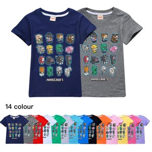 14 ColorMinecraft Minecraft Children's Wear Cotton Summer Casual Tops Boys and Girls Short-Sleeve T-shirt 294 Baby Kids Clothing