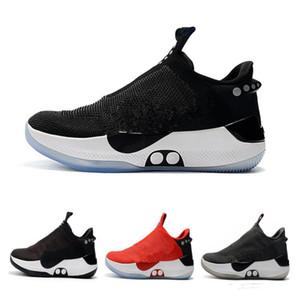 2019 neue Nike adapt bb schwarz weiß reine platin basketball schuhe für männer herren outdoors sports trainer turnschuhe chaussures7-12