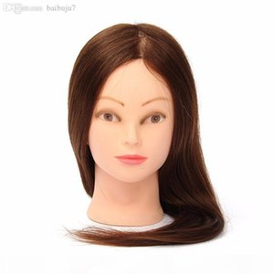 Wholesale-Professional Hairdressing Dolls Head Female Mannequin Styling Training Head 100% Human Real Hair High Quality 24 Inch
