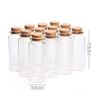 50 шт 30x70 мм 30 мл плоское дно стеклянная трубка бутылки с пробками желая звезды декоративные флаконы пустые душистые чайные баночки