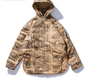 Streetwear Oversize Jackets Coats Mens Womens Print Hooded Button Jackets 연인 겨울철 분리형 두꺼운 코트 Windproof Outerwear