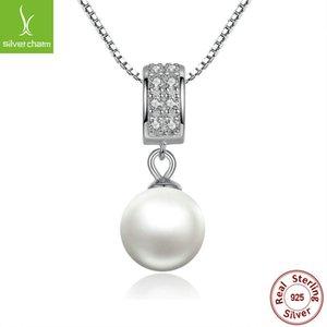 Ciondolo in argento sterling 925 ciondolo a catena lunga gioielli moda collana accessori Scn030 C19041201