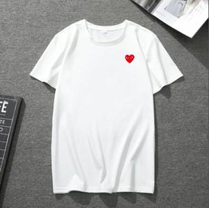 تصميم أعلى نوعية الرجال والنساء قصيرة الأكمام تي شيرت مطبوعة موضة القلب تي شيرت في الهواء الطلق رياضة وترفيه الركض بأكمام قصيرة