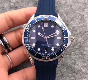 Recentemente quotate in borsa 007 James Blue mens quadrante faccia mare 42 millimetri grigio guardare orologio higt uomini del movimento automatico in acciaio inossidabile di stile sette di