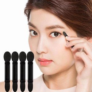 10pcs Black Double-Head Sponge Eyeshadow Brush Set Disposable Eye Shadow Set Make Up Brush Cosmetic Makeup Tool Lady New