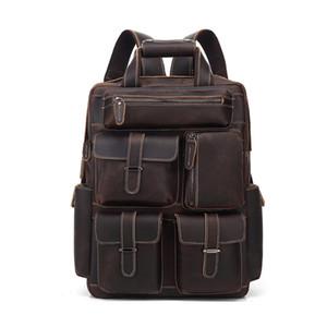 COWHIDE sac à dos en cuir plus de poche Sac à main de qualité supérieure Designer Handbags Sacs de voyage en cuir véritable portables