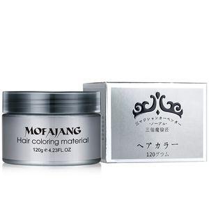 Pomade balmumu Big geri saç şekillendirme Mofajang Pomade Güçlü stil için 2019 Mofajang saç balmumu iskelet üçkağıtçı 120pcs / karton 7 renk kutusu
