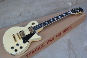 Free shipping high quality Mahogany body Custom ebony fingerboard RANDY RHOADS signature yellow electric guitar
