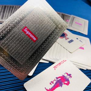Fashion Personality Poker Spielkarte Golden Frosted Hohe Temperatur-Laser-Prägung PET Wasserdicht Poker Card 57 * 87 (mm)