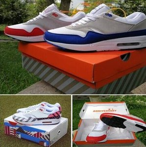 With Original Box Atmos 87 Anniversary 1 Piet Parra 87 Premium 1 DELUXE WATERMELON White Blue Black Running shoes sneaker With Box 36-46