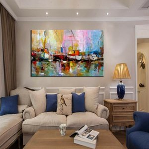 -.43-Framed & Unframed 0045# Modern Abstract Home Decor Handpainted &HD Print Oil Painting On Canvas Wall Art Canvas Pictures