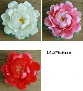 Incense inserted Hand-kneaded ceramic peony with leaf flower zen incense inserting craft small furnishing incense burner household i
