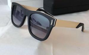 Black Gold Mirror Sunglasses 7106 Square Sports Sunglasses gafas de sol Fashion Glasses Shades with Box