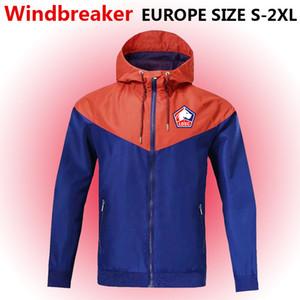 Lille LOSC ветровка на молнии куртка, Lille LOSC с капюшоном футбол ветровка футбол куртка спортивная Лилль полный молнии пальто Мужские куртки