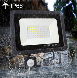 10W 20W 30W 50W LED waterproof floodlight with motion sensor AC220V PIR floodlight garden street outdoor lighting