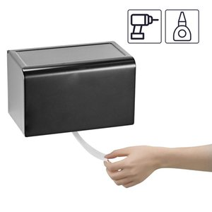 Wall Mounted Toilet Paper Titular Banho titulares cozinha rolo de papel Dustproof alumínio Rolls Toilet Tissue Levante Tissue Box