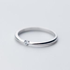 Neues Modell Mode Gute Qualität 925 Sterling Silber Ring CZ Solitaire Ring Schmuck Für elegante Frau Frauen