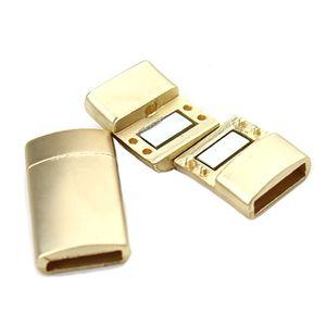 LOULEUR 5 teile / los Gold Farbe Edelstahl Plain Magnetverschluss Verschluss Für Leder Armbänder DIY Schmuck Erkenntnisse Hohe Qualität