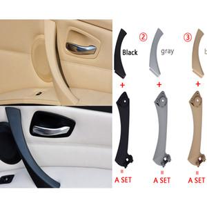 Handle Car Inner Pull Panel Porta Interior guarnição da tampa Cinzento Bege Preto esquerda direito para BMW Série 3 E90 E91 316 318 320 325 328