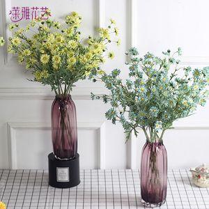 27inch Yapay Cosmos Çiçek İpek Sahte Bud Çiçekler Stamen Düğün Holding Ev Dekorasyonu 13 Başlar / Şubesi için Küçük Hollandalı Papatya