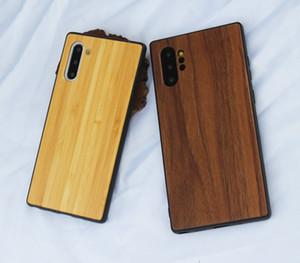 Gerçek Ahşap Cep Telefonu Kılıfı için Samsung Galaxy S20 S10 Not 10 Odun + TPU için Samsung A10 M10 Vaka Can Özel Design'ınızı