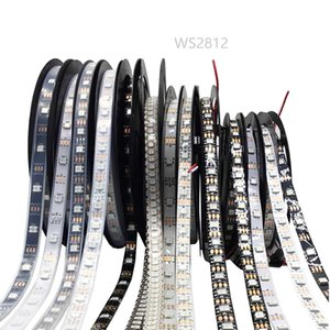 0.5-5m WS2812B WS2812 RGB Led tiras impermeables individualmente direccionable inteligente RGB LED para la decoración del hogar de Navidad