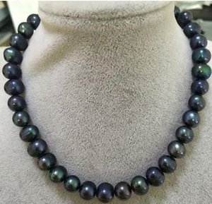 12-13mm Black Pearl Necklaces 18inch 14k Gold Clasp