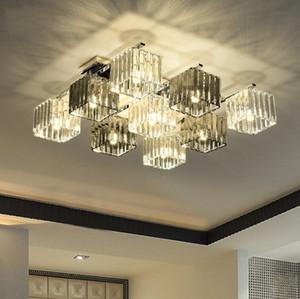Nordic teto Luzes LED Black White cristal do teto sala de lâmpada para cozinha Modern Living Crianças Bedroom Lamp luminária plafonnier LLFA