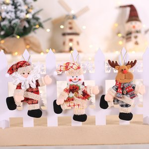 Christmas Doll Decorative Hanging Pendant Mini Dancing Doll Santa Claus Drop Ornaments