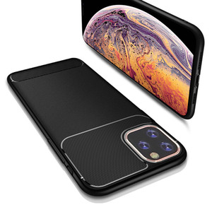 Per Iphone 11 Pro Samsung Galaxy S20 plus A11 A21 A71 A20S redmi Fibre 8 Slim Matte Carbon disegno TPU Custodie Cellulari