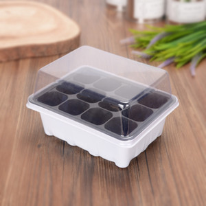 12 Cell White Black Propagation Tray Nursery Pot Plant Germination Grow Box Garden Supplies