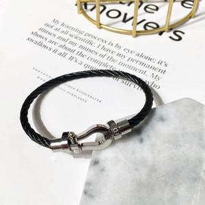 Braccialetto a ferro di cavallo Braccialetto in acciaio Bracciale in acciaio Acciaio in acciaio in acciaio in acciaio inossidabile Stile Minimalista Fashion Designer di lusso gioielli per le donne
