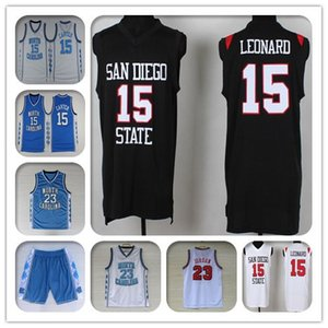 Männer NCAA San Diego State Aztecs Kawhi 15 2 Leonard Jersey Basketball 23 Michael MJ Jersey North Carolina College-Vince Carter 15 1 McGrady