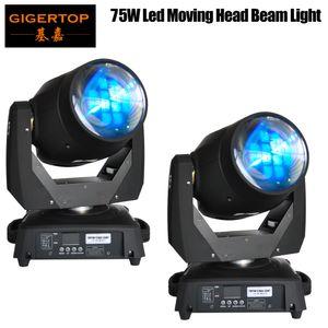 Freeshipping 2pcs / lot Çin 75W Led Kafa ışık demeti 15/19 Kanallar Led Sahne Işık Prosm Mercek 8 Prizma Mercek Işın Yıkama TP-L606A Hareketli