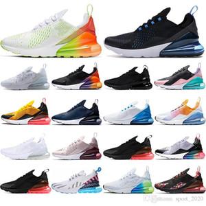 Nike air max 270 mcalcetines gratis nuevo cojín de aire mujeres hombres zapatillas de deporte runinng zapatos estrellas Hot punch Rainbow Tea Berry BARELY ROSE transpirable para